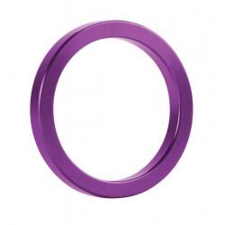 Фиолетовое металлическое эрекционное кольцо Metal Cockring