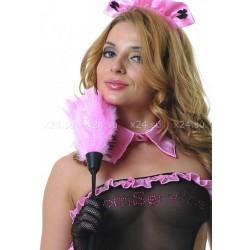 Розовая перьевая щеточка горничной