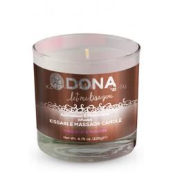 Массажная свеча для оральных ласк Dona Kissable Massage Candle Chocolate Mousse