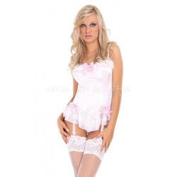 Белое мини-платье со шнуровкой сзади Sybil