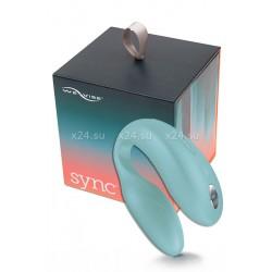 Вибромассажер для пар We-Vibe-Sync на радиоуправлении (10 режимов, бирюзовый)